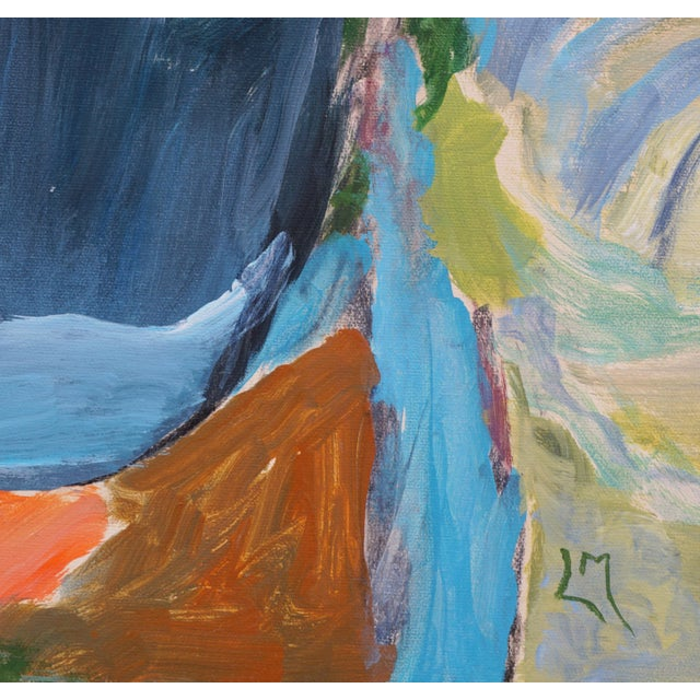 """Abstract Landscape by Laurie MacMillan, """"Almost Somewhere"""" For Sale In Los Angeles - Image 6 of 7"""