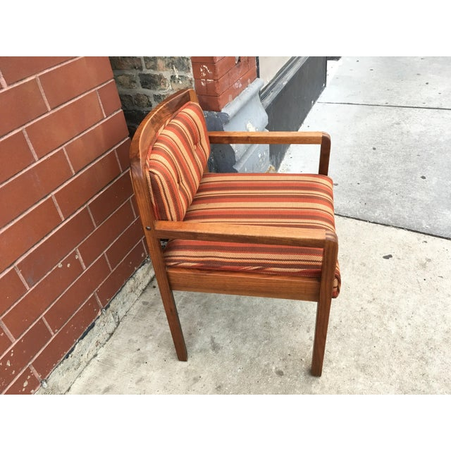 Rich walnut grain with incredible claw dovetail jointery make this Jens Risom arm chair one to make yours! Exceptionally...