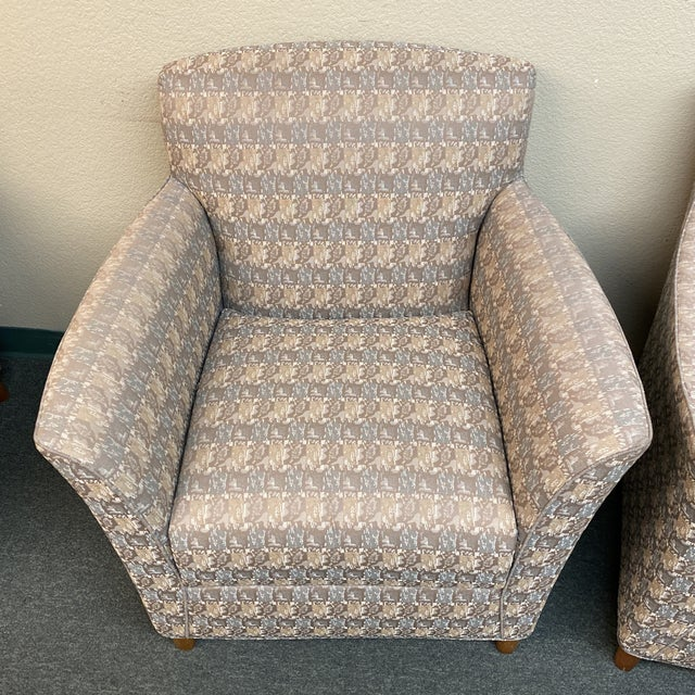 Bernhardt Bernhardt Custom Accent Chairs - a Pair For Sale - Image 4 of 13