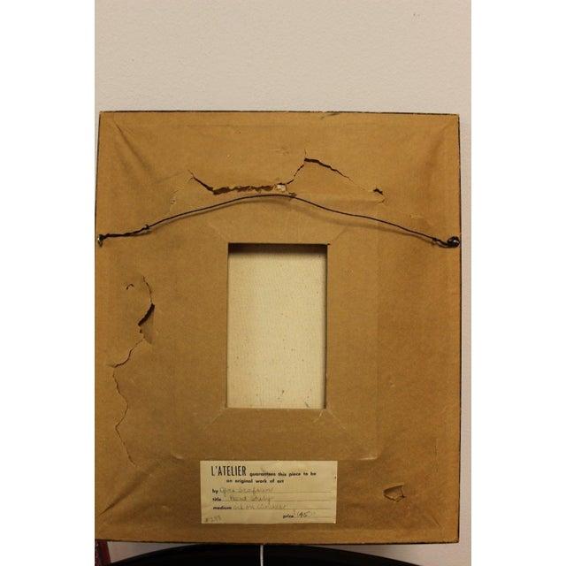 Mid 20th Century Mid-Century Modern Gene Szafran Oil on Board Head Study Orange For Sale - Image 5 of 7