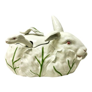 Italian Rabbit Sauce Tureen For Sale