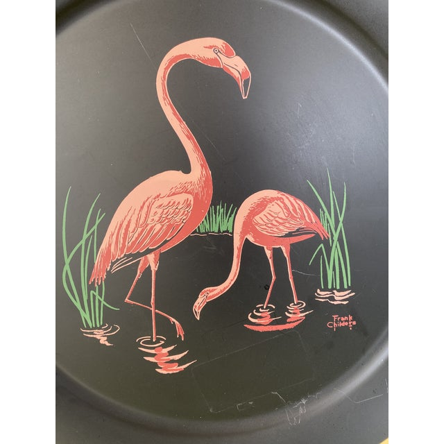 Vintage Florida Frank Childers Flamingo Wall Object For Sale - Image 9 of 11