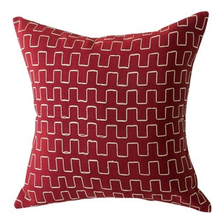 Handwoven Edo Collection Pillow For Sale