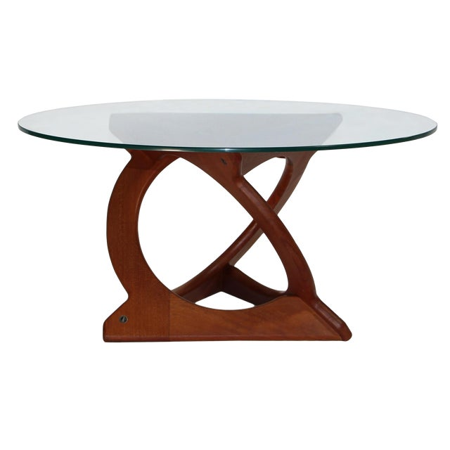 Teak Coffee Table With Glass Top By Soren Georg Jensen For Kubus