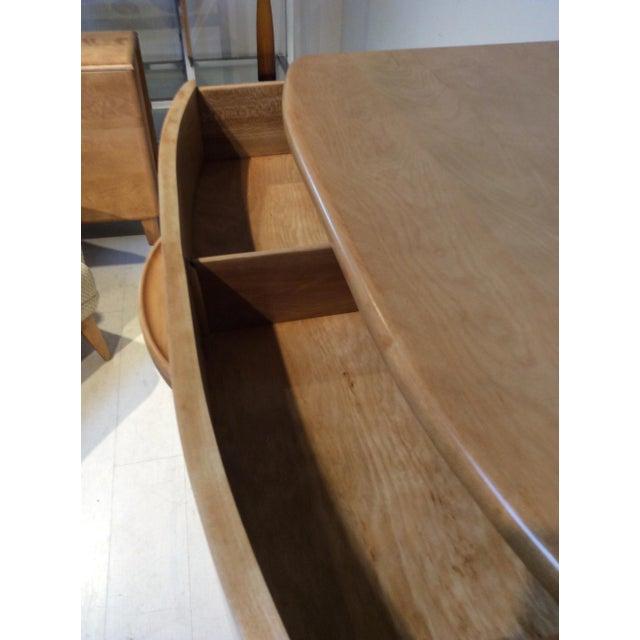 Wood 1940s Heywood Wakefield Mid-Century Modern Crescendo Highboy Dresser For Sale - Image 7 of 10