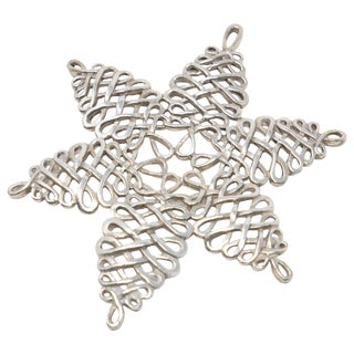 2000 Lunt Sterling Snowflake Ornament For Sale
