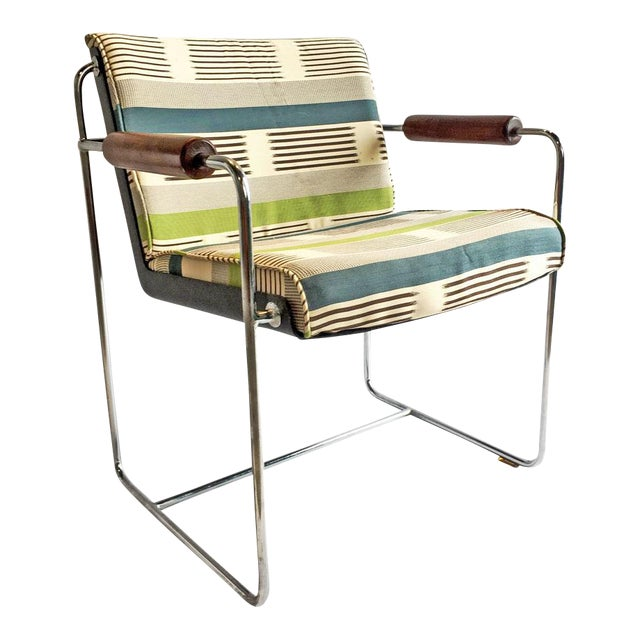 1960's Chrome Accent Chair - Image 1 of 6