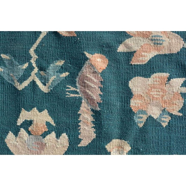 Mid-Century Modern Mid-Century Modern Wall Tapestry Green Rug For Sale - Image 3 of 7