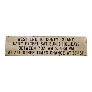 Vintage Coney Island Sign
