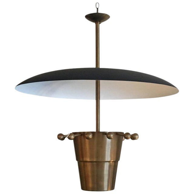 Over-sized Brass Domed Hanging Light - Image 1 of 5