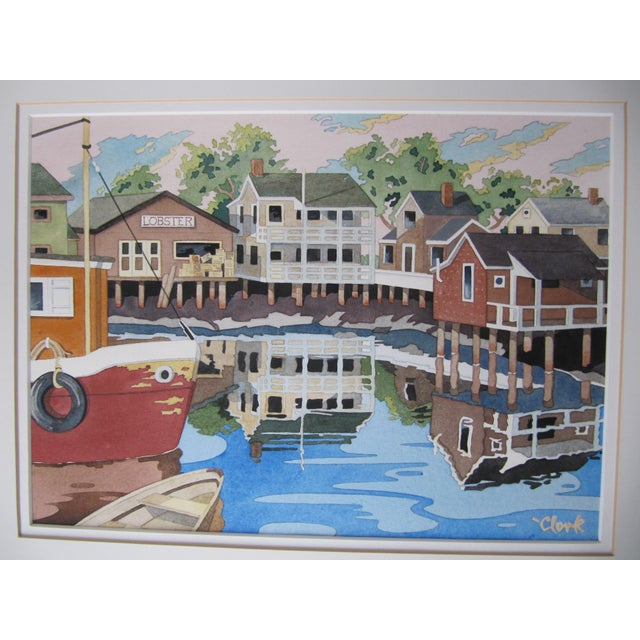 New England Watercolor Painting - Image 7 of 8