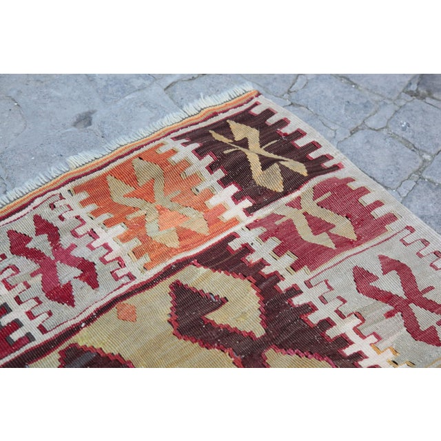 1940s Vintage Wool Kilim Rug - 2′4″ × 3′ For Sale In Baltimore - Image 6 of 13