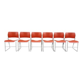 Mid Century David Rowland for Howe 40/4 Stackable Chairs-Set of 6 For Sale