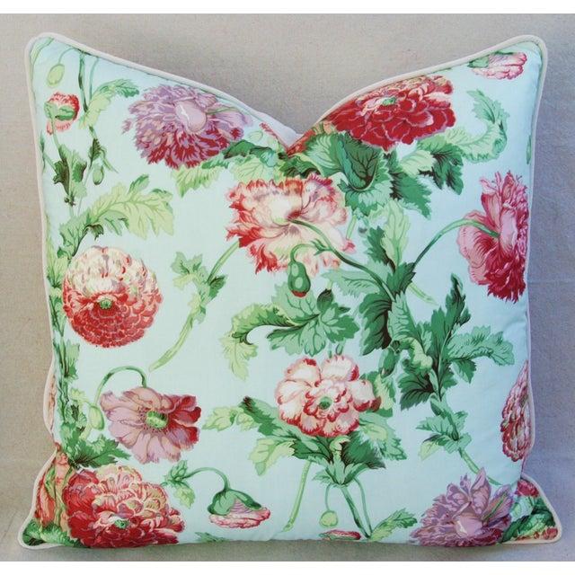 Designer Brunschwig & Fils Poppies Pillows - Pair - Image 6 of 9