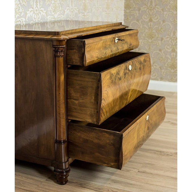 19th-Century Louis Philippe Dresser Veneered with Mahogany For Sale - Image 10 of 11