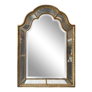 1920s French Giltwood Beveled Mirror For Sale