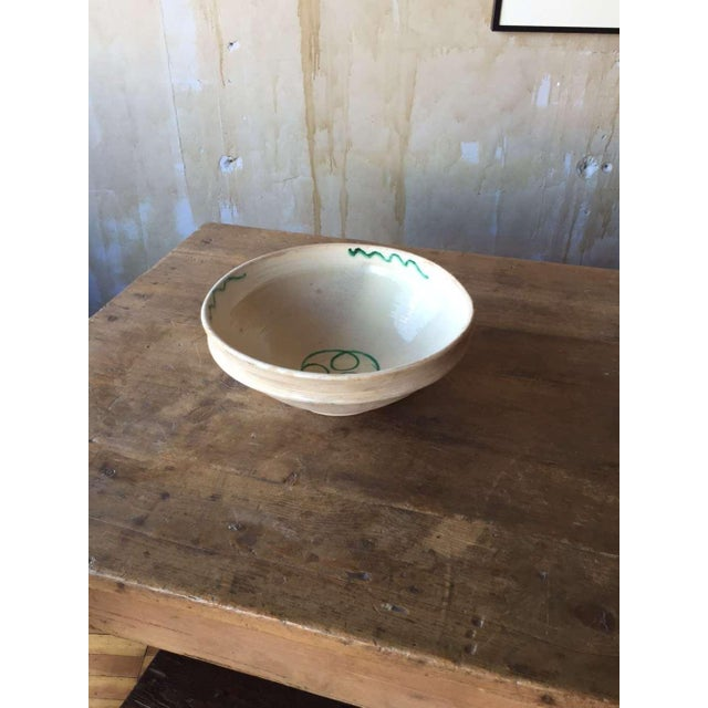 Antique Italian Rustic Glazed Terracotta Bowl For Sale - Image 5 of 6