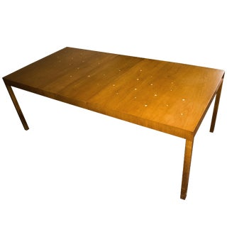 """T. H. Robsjohn-Gibbings """"Constellation"""" Extension Table, With Brass Stars, 1950s For Sale"""