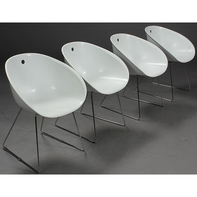 Modern Claudio Dondoli & Marco Pocci Gliss 920 Chairs- Set of 4 For Sale In Boston - Image 6 of 6