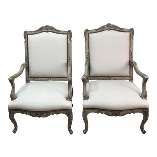 Regency Fauteuil French Chairs - A Pair