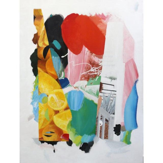 """Artist Palette / Oranges"" Original Abstract Artwork by Brandon Neher For Sale - Image 10 of 10"