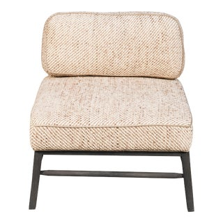 Sarreid Ltd. Mid-Century Modern Woven Upholstered Oak Grove Side Chair For Sale