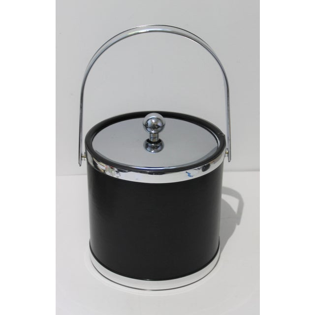Vintage Kraftware Ice Bucket in Faux Leather For Sale In West Palm - Image 6 of 13