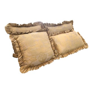 Cowtan & Tout Brocatello Decorative Bed Pillows - Set of 4 For Sale