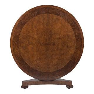 William IV Burr Ash & Brown Oak Center Table For Sale