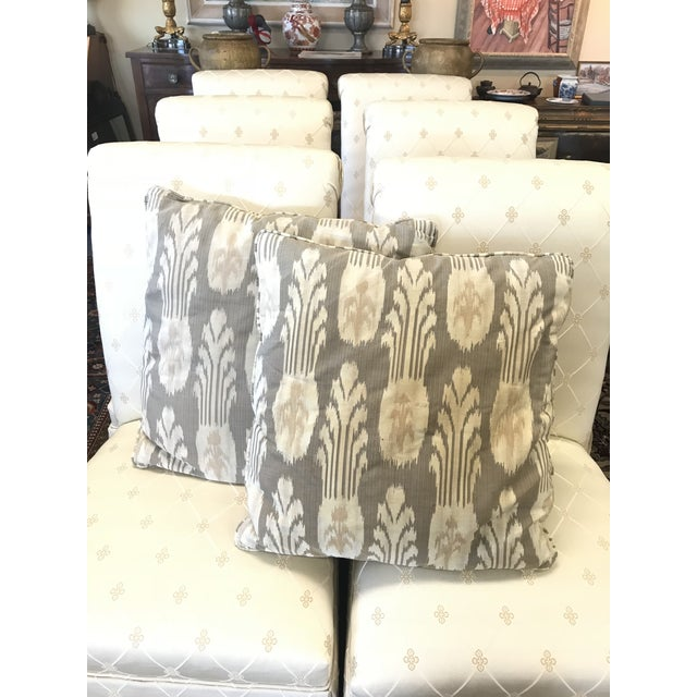 Mid 20th Century Contemporary Gray and Tan Pillows - A Pair For Sale - Image 5 of 5
