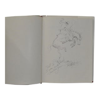 The Fred Oldfield Book with Original Drawing & Inscription For Sale