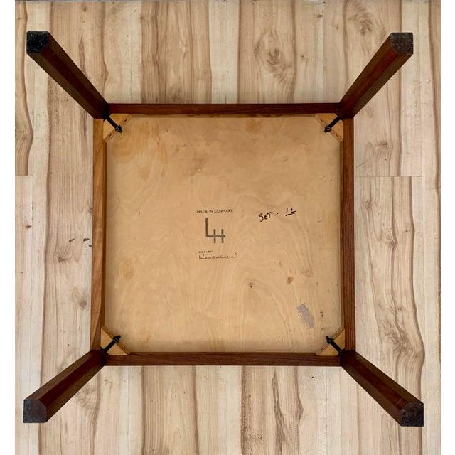 1960s Danish Modern Hans Olsen Teak Side Tables - a Pair For Sale - Image 9 of 11