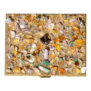 Sam Fink Genuine Semi-Precious Stones Cigarette Case For Sale