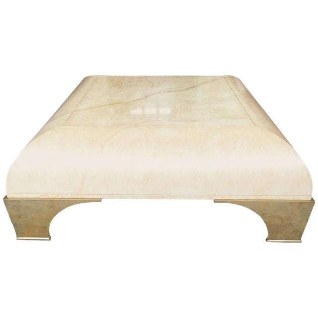 Parchment Finish Cocktail Table - Image 1 of 8