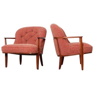 Pair of Dunbar Janus Lounge Chairs For Sale