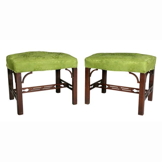 Pair of George III Mahogany Footstools For Sale - Image 13 of 13