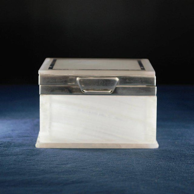 Lapis Inlay Onyx Box For Sale - Image 12 of 13