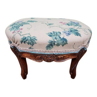 French Walnut Footstool C.1910 For Sale