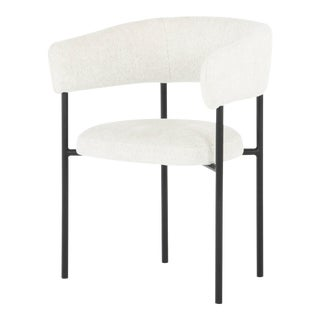 Nuevo Living Cassia Dining Chair In Buttermilk Boucle For Sale