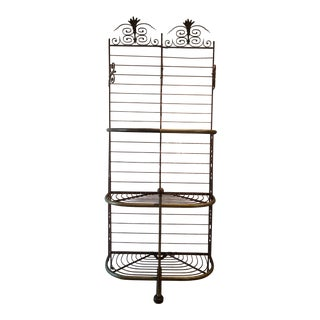Antique French Baker's Rack For Sale
