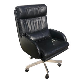 70's Roger Sprunger for Dunbar Executive Office Chair For Sale
