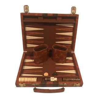 Vintage Travel Backgammon Game