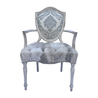 Late 20th Century Shield Back Arm Chair For Sale