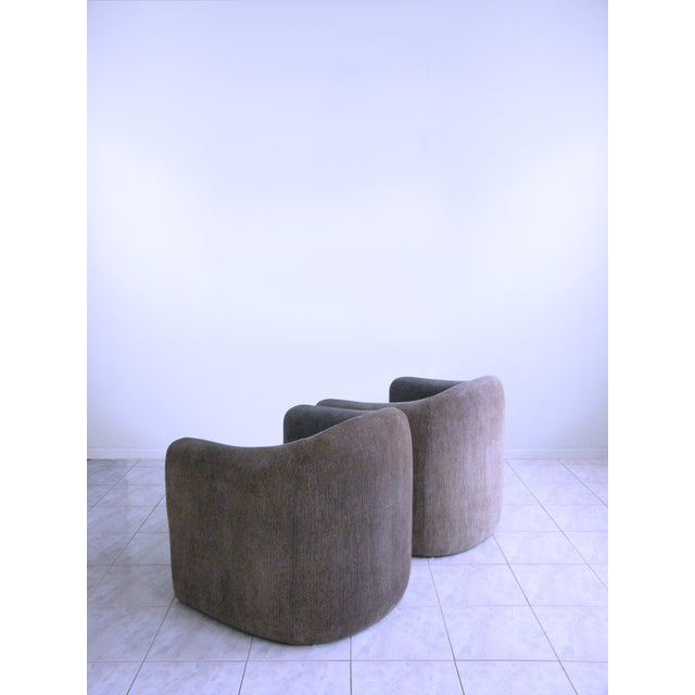 Vladimir Kagan Vladimir Kagan for Preview Biomorphic Freeform Minimalist Armchairs - a Pair For Sale - Image 4 of 11