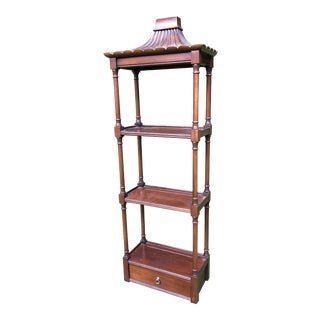 Pagoda Mahogany Wall Shelf For Sale
