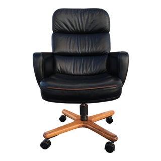 Danish-Modern Executive High-Back Desk Chair by Hiebert Inc. For Sale