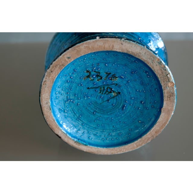 Ceramic Aldo Londi for Bitossi Remini Blu Ceramic Vase For Sale - Image 7 of 8