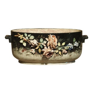 Circa 1880 Edouard Gilles Barbotine Jardiniere From France For Sale