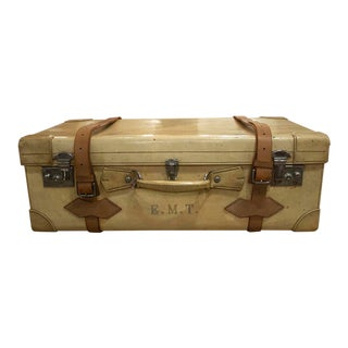 1900s French Vellum Trunk For Sale