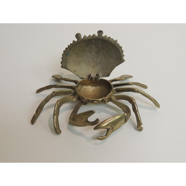 Vintage Brass Articulated Crab Box - Image 4 of 4